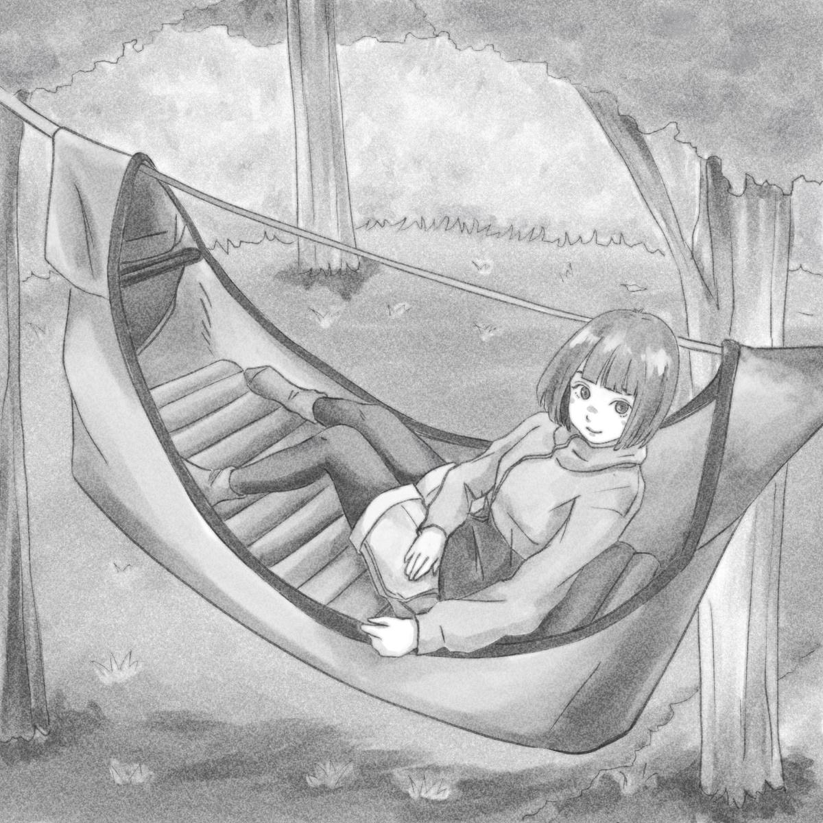 寝心地アップ!テントのようなハンモック