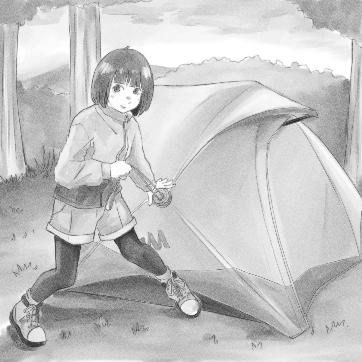 2秒で設営完了!?画期的折り畳み式テント